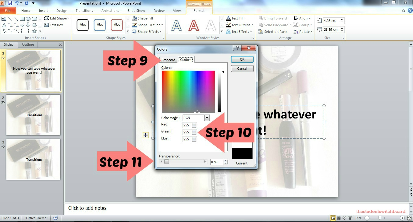 tips for powerpoint presentations the student switchboard