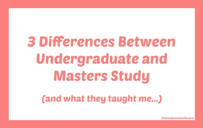 difference between bachelors and masters
